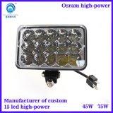 供应外贸出口LED汽车车顶辅助灯 车前5寸方射灯 压铸铝外壳