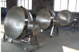 不锈钢夹层锅 电加热可倾斜夹层锅 300L食品夹层锅蒸煮锅
