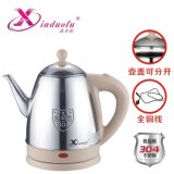 鑫多福304不锈钢电水壶 泡茶专用长嘴提盖壶1.2L烧水壶厂家直销