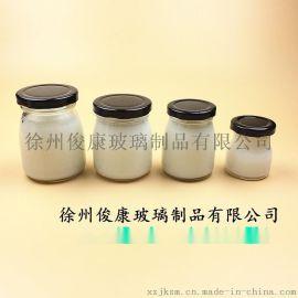 马口铁盖布丁瓶燕窝瓶食品包装玻璃瓶