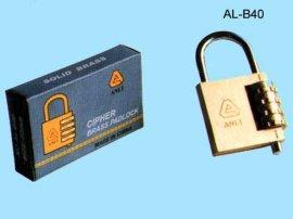 密码铜挂锁