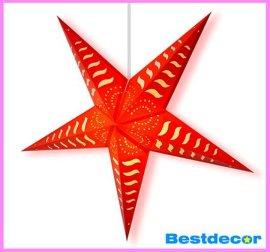 纸五角星吊灯罩
