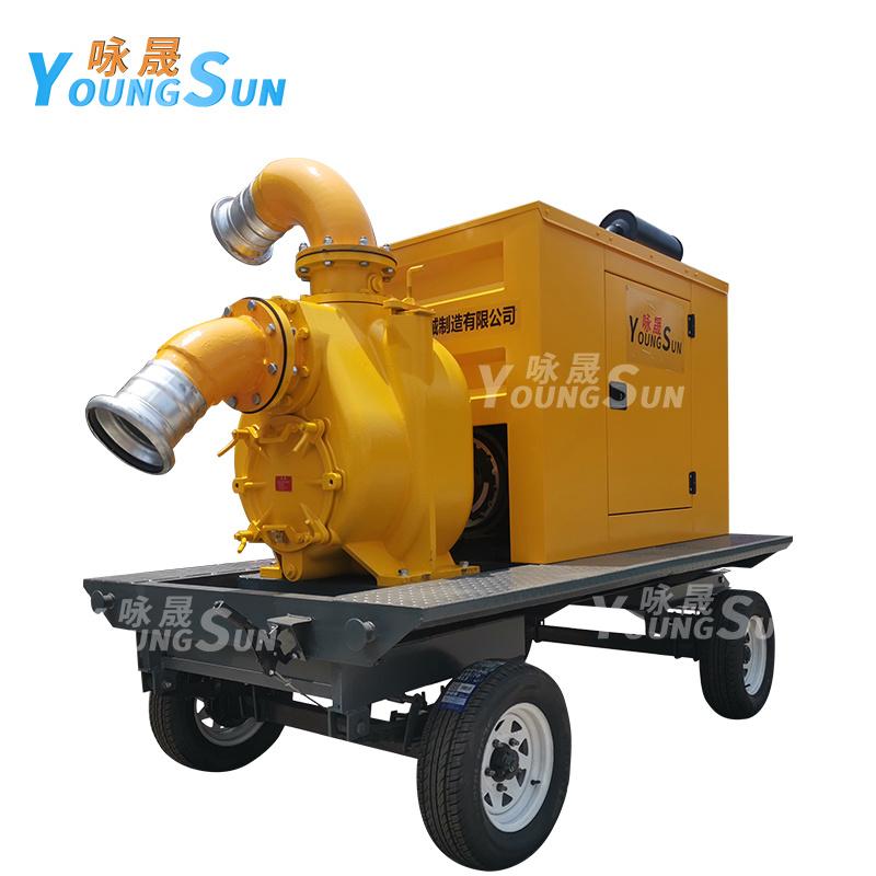 城市防汛12寸柴油水泵 防汛抗旱8寸移動泵車