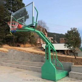 广西南宁手动液压升降篮球架多少钱一对
