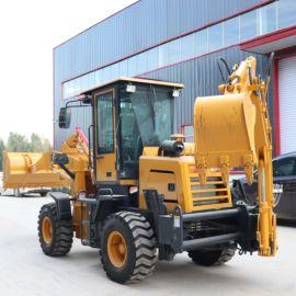 沃特两头忙挖掘式装载机 小型轮式挖掘装载机