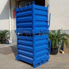 TXX铁质方形铁屑箱 自卸可堆垛工业垃圾箱
