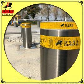 苏州汉马升降路桩-不锈钢升降柱-学校挡车柱-出入口