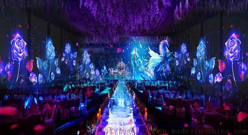 山东5D婚宴厅,济南全息宴会厅,集影科技
