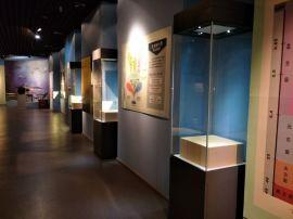 昆明侧开门博物馆展柜厂家-方形瓷器独立柜