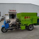 全自動養殖飼料電動撒料車報價 牛羊小型三輪撒料車