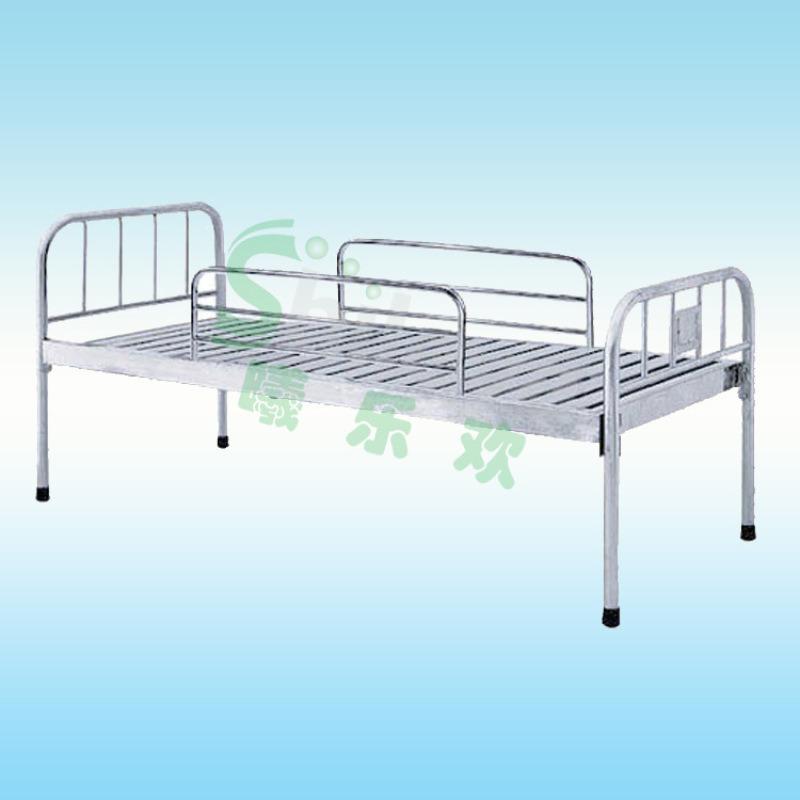 住院病床,医用护理病床,不锈钢平板护理床