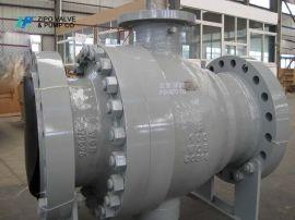 自贡自泵球阀厂铸钢法兰固定球阀生产厂家