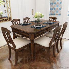 多形缩叠餐桌椅 凭祥古典木家具 北海多人方餐桌