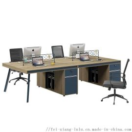 现代简约电脑桌组合双人4人6人8人职员桌电脑桌