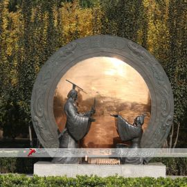 历史名人铜雕,人物铸铜雕塑,传统文化雕像