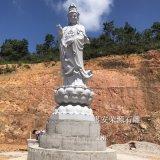 福建石雕观音厂家 现货4.9米高观音菩萨雕像