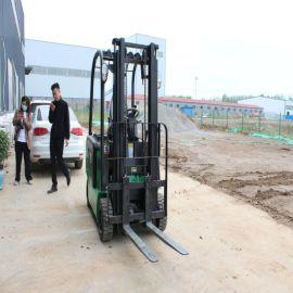 新型电动叉车 小型全电动堆高车 1吨2吨装卸搬运车