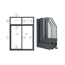 興發鋁材創高AL90A|B|C系列新型密封推拉門