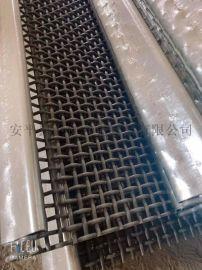 中良304帶鉤不鏽鋼軋花礦篩網片