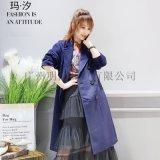 義大利時時尚女裝品牌瑪汐歐美大衣折扣貨源