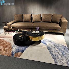 不锈钢沙发布艺沙发 东莞市**创艺布艺沙发