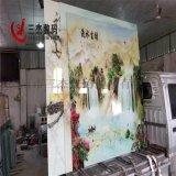 瓷磚玻璃3D浮雕背景牆UV平板打印機廠家