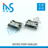 MICRO USB 5P AB型5.9间距插脚卷边
