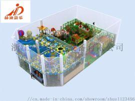 室内大型成人超级蹦床公园儿童乐园 滑梯游乐设备厂家