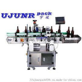 啤**饮料直线式不干胶圆瓶贴标机