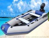 轻便硬底充气橡皮船送充气泵划桨