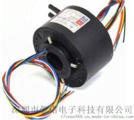 过孔式滑环8路信号电压24VAC内径25.4mm