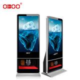 OBOO43寸高清全自動紅外擦鞋網路版落地式廣告