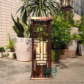 庭院不锈钢立柱灯电镀拉丝  草坪灯小区单元特色草地灯