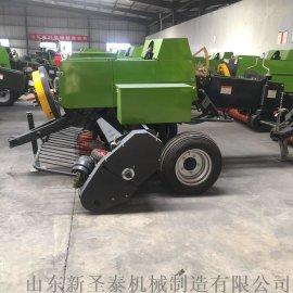 大产量方捆草捆机  拖拉机悬挂式方捆打捆机械