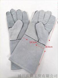 厂家直销电焊手套牛皮工业耐高温夏季隔热防烫加厚