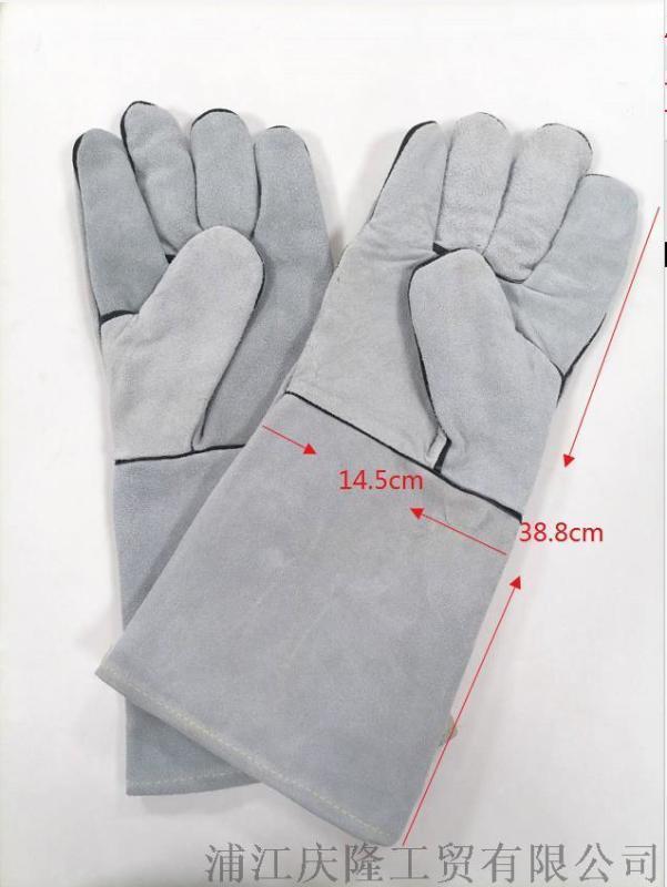 廠家直銷電焊手套牛皮工業耐高溫夏季隔熱防燙加厚