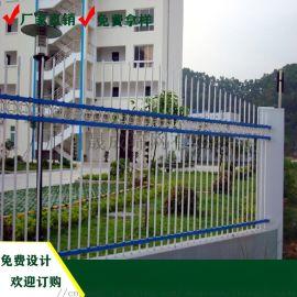 花都电站锌钢防盗围栏安装 珠海河道热镀锌喷涂护栏