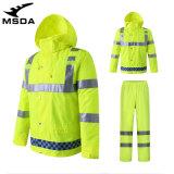 出口跨境摩托車雨衣雨褲男交通執勤反光服加厚保安防雨水工作服