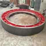 2.2x7.5米风扫煤磨机大齿轮铸钢煤磨大齿圈