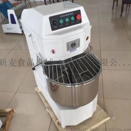上海厂家120升商用和面机50公斤面粉量双速双动