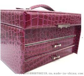 厂家直销创意新款长方形首饰盒**红色pu绒布饰品包装收纳盒 北欧