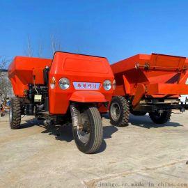小型三轮自走撒肥车现货 1立方蔬菜大棚自走撒肥车