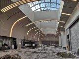 購物中心滾弧拉彎造型吊頂鋁方通-拉彎鋁方通定製藝術