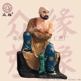 伏虎罗汉 十八罗汉佛像 树脂雕塑彩绘神像佛像厂家