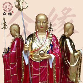 四面地藏王菩萨 极彩地藏王佛像定制 阿弥陀佛