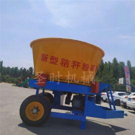 农作物秸杆圆筒式草捆破碎机 全自动玉米秸秆粉碎机