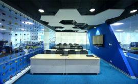 上海埃其A级防火办公室玻璃纤维吸音隔音天花板