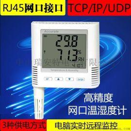 IP网络型温湿度记录仪 TCP机房环境实时监控温湿度变送器记录仪表 RJ45网口温湿度计