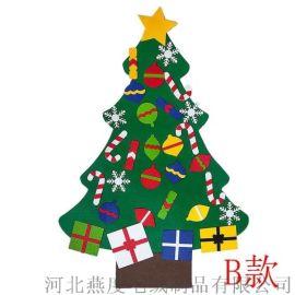 跨境供应毛毡圣诞树圣诞节装饰挂件儿童圣诞节礼物