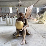 西方人物玻璃鋼雕塑 歐式人物雕塑玻璃鋼仿銅女神雕像
